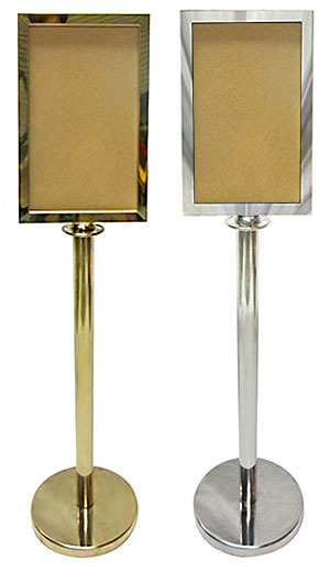 Gold/Chrome Stanchion Sign Frames