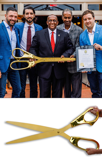 The Largest Ceremonial Scissors in the World - 40 inch GOLD Plated Scissors with GOLD Blades