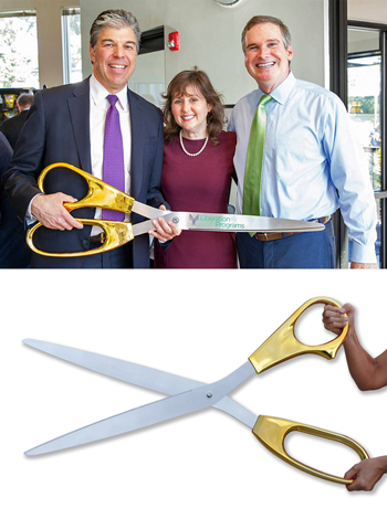 The Largest Ceremonial Scissors in the World - 40 inch GOLD Plated Scissors with Silver Blades