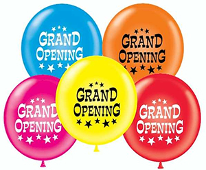17 inch Latex DOUBLE SIDED Grand Opening Balloons