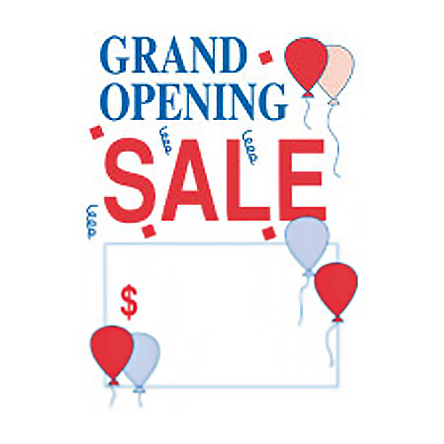 Grand Opening Sale Price Tags