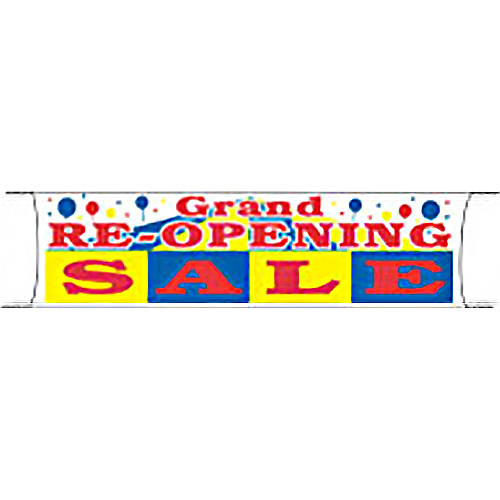 Grand Re-Opening Sale Banner
