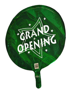 Bargain Green Grand Opening Round Balloon
