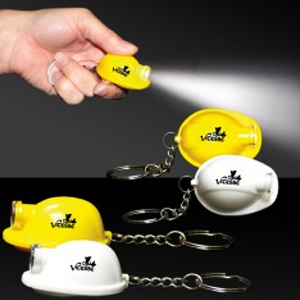Hardhat Flashlight Keychain