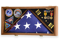 Honorable Service Flag and Medal Display Case