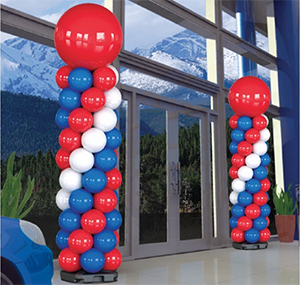 Indoor Reusable Balloon Tower Kit - 9 Foot Tall