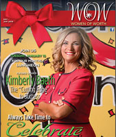 Golden Openings' Kimberly Baeth on the cover of WOW Magazine