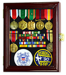 Military Service Display Cabinet