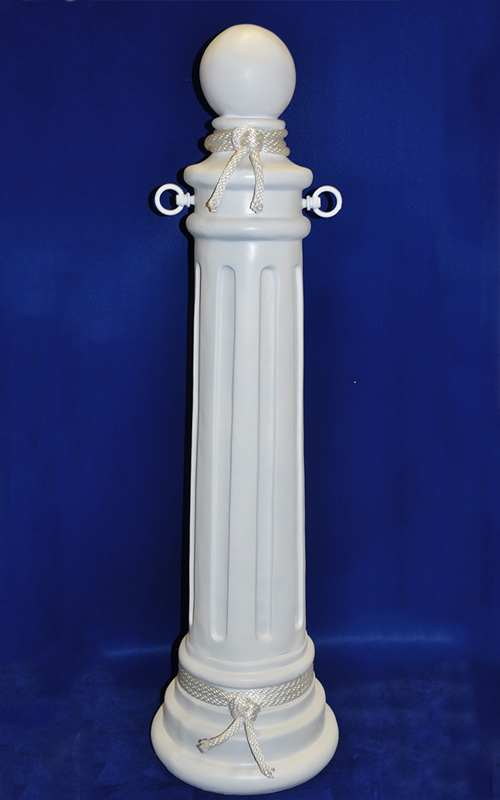 White Nautical Lake Stanchion