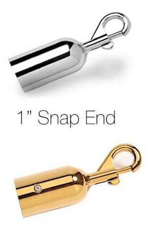 1 inch Stanchion Rope Hook Snap Ends Gold or Chrome