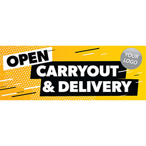 Open for Carryout and Delivery Banner