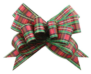 Holiday Plaid Butterfly Bow