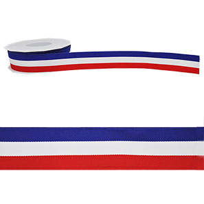 1.5 inch Red, White, and Blue USA Grosgrain Ribbon