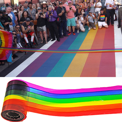 Rainbow Plastic Ribbon