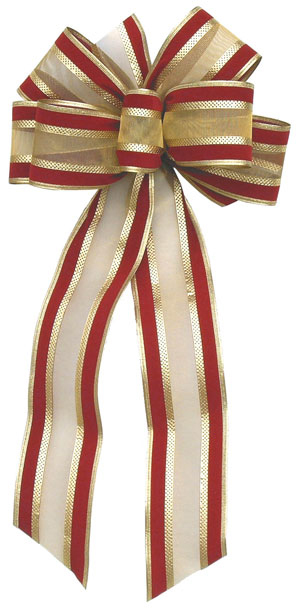 Red & Gold Velvet Bow