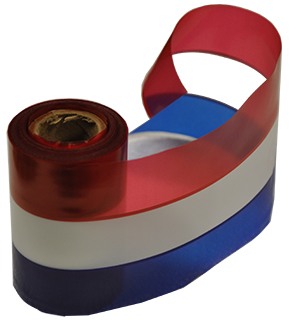 Patriotic Red, White & Blue Stripe Plastic Ribbon