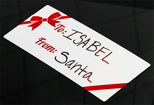 Holiday Ribbon and Bow Gift Tag Decals