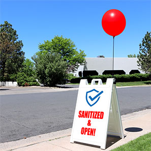 Sanitized and Open Sign Kit