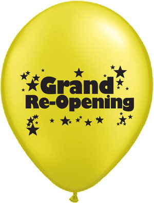 Grand Re Opening Latex Balloons Std 11 In Golden Openings