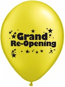 Grand Re-Opening Latex Balloons - Std 11in