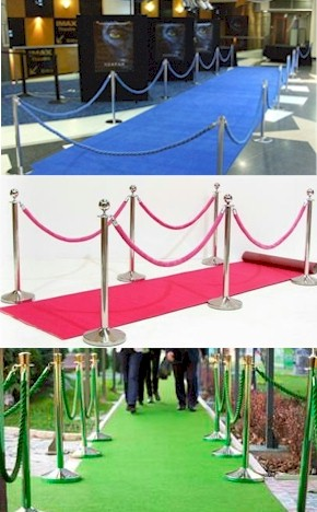 Event Carpet Runner and Velour Ropes Kit