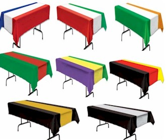 Multi-Colored/Striped Table Cloth Covers