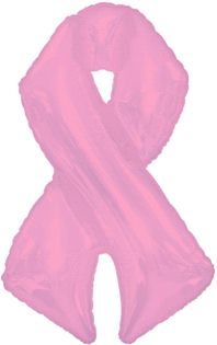 Mylar Breast Cancer Balloon