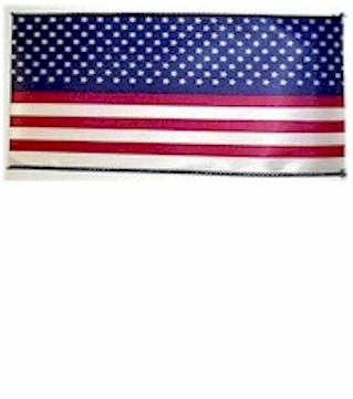 Patriotic Stars and Stripes Wired Edge Satin Ribbon