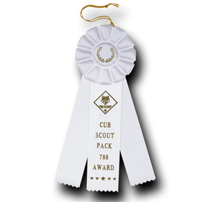 Custom 4 inch Rosette Ribbon
