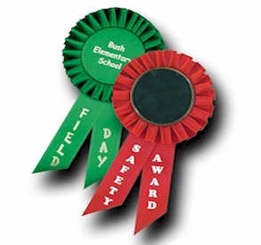 Custom Pin Rosette Ribbons