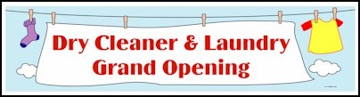 Dry Cleaner Grand Opening Banner 2ft x 8ft