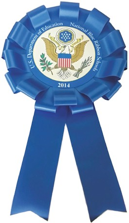 12 inch National Blue Ribbon School Giant Presidential Rosette Ribbon/Bow