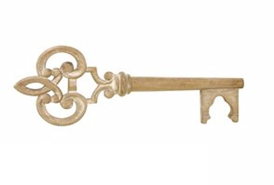 Antique Wooden Key - Golden Openings