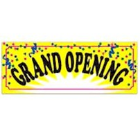 Yellow Confetti Grand Opening Banner
