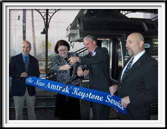 Amtrak - Keystong Services Ribbon Cutting