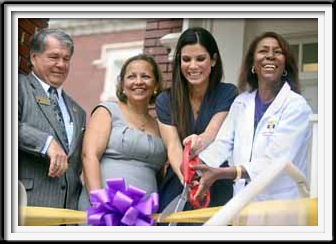 Sandra Bullock Ribbon Cutting