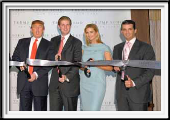 The Trump Family Ribbon Cutting