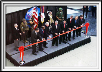 red ribbon cutting ceremonial event