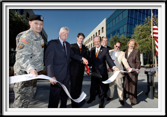 USA White Ribbon Cutting