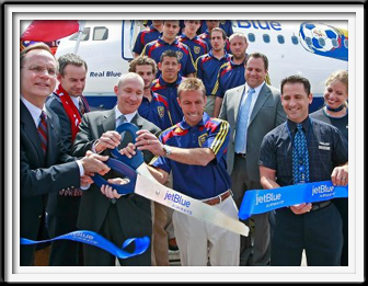 Jet Blue Ribbon Cutting