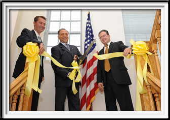 yellow ribbon cutting