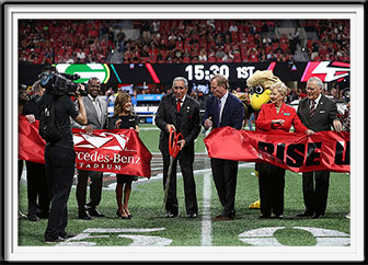 Atlanta Falcons Ribbon Cutting