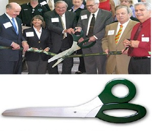 3 Foot Ceremonial Scissors - Hunter Green Handles