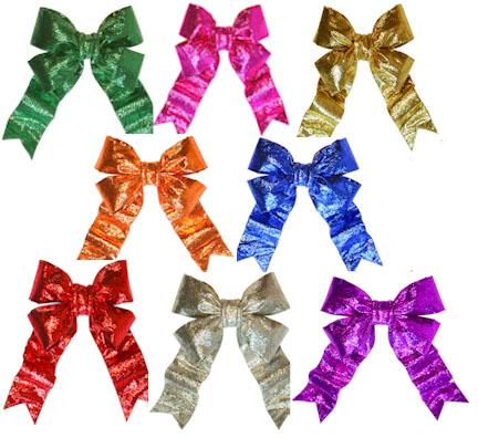 3 d sparkle bling bow golden openings