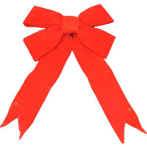 Bargain 3-D Red Velvet Bow - 12 Inch