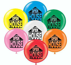 17 inch Open House Printed Latex Balloons