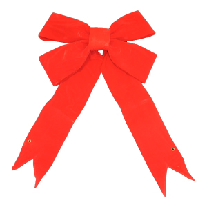 Bargain 24 Inch 3-D Red Velvet Bow