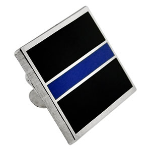 Thin Blue Line Rectangle Pin