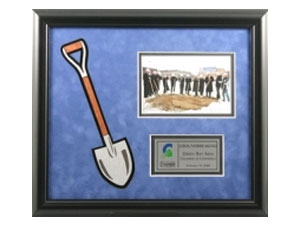 Commemorative Shovel Plaque
