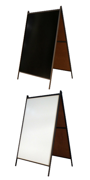 Steel A-Frame Dry Erase Board Sidewalk Sign